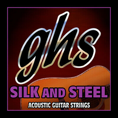 GHS Strings 345 Silk And Steel Light Acoustic Guitar Strings (10-42) • 8.61£