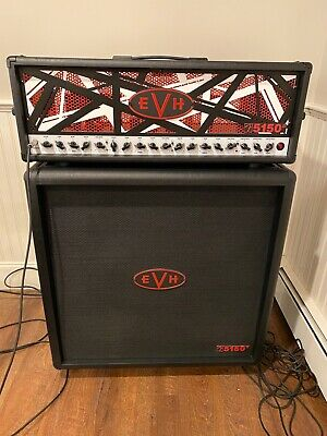 EVH Limited Edition 5150 Lll Head And Cab Black With Red And White Stripes • 2,893.63£