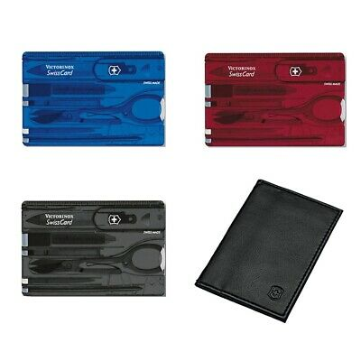 Victorinox Swiss Card & Pouch - Multi Function Swisscard Tool - Various Colours • 29£
