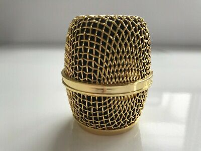 1 X Gold Replacement Microphone Grill Head Beta87 & 87a  And Rk312 Shure Sm58 • 19.99£