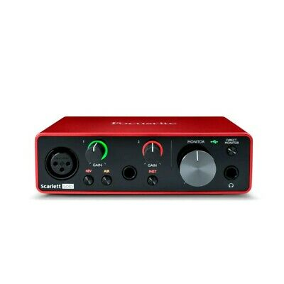 New Focusrite SCARLETT-SOLO-3G Scarlett 2X2 Solo 3rd Gen Pro Audio USB Interface • 128.15£