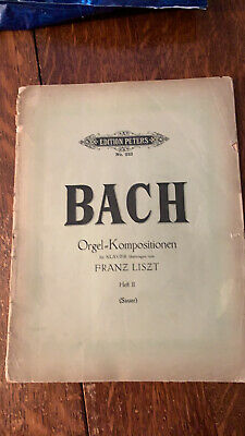Bach transcribed by Liszt: 3 Great Preludes and Fugues Edition Peters 1921