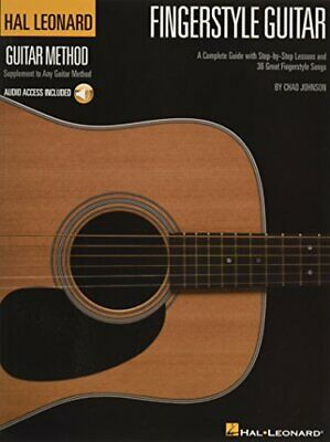 HLGM FINGERSTYLE GUITAR METHOD BKCD Hal Leonard Guitar Method Songbooks • 13.53£