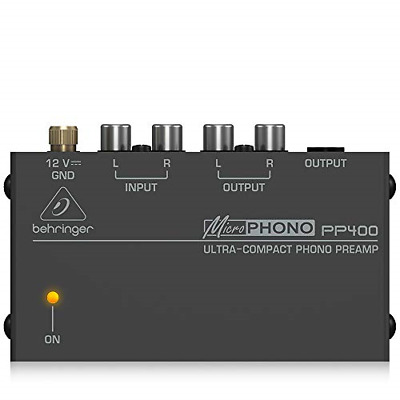 Behringer Microphono PP400 Ultra-Compact Phono Preamp,Silver • 27.11£