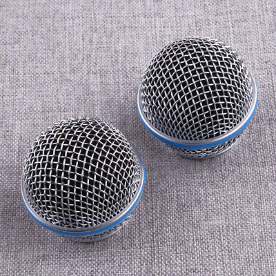 2Pcs Mic Ball Head Mesh Microphone Grille Cover Part Fit For Shure Beta58A SM58 • 5.64£