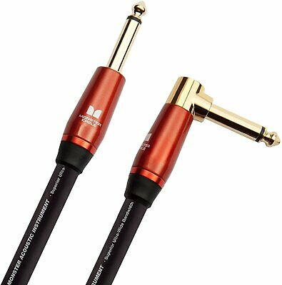 Monster Prolink 12' Acoustic Instrument Cable - Straight to Right Angle