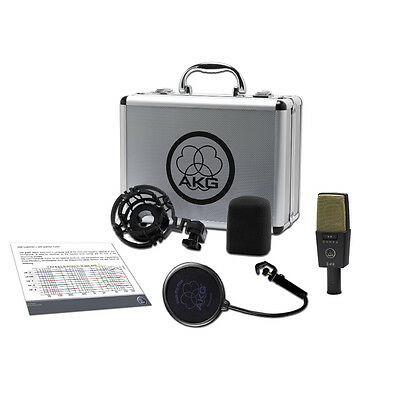 AKG C414 XLII Reference Multipattern Condenser Vocal Solo Instrument Microphone • 632.21£