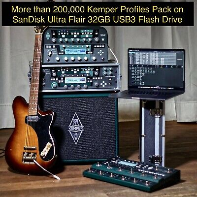 200K Profiles Pack For Kemper Profiler Stage Toaster On SanDisk Ultra Flair 32GB • 30£