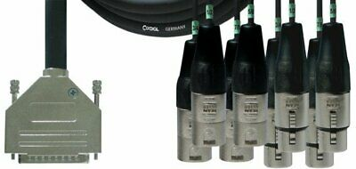 Cordial 5' TASCAM D-Sub 25-Pin Male to 8 3-Pin XLRF Cable - CFD1.5DFT