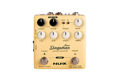 Stageman Floor Acoustic Preamp DI Pedal NEW