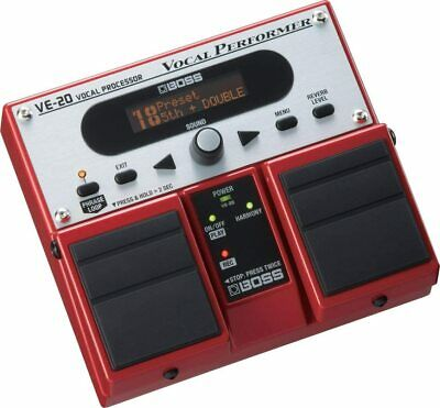Boss VE-20 Vocal Performer Multi-Effects Pedal DHL Vocal Delay Reverb Brand New