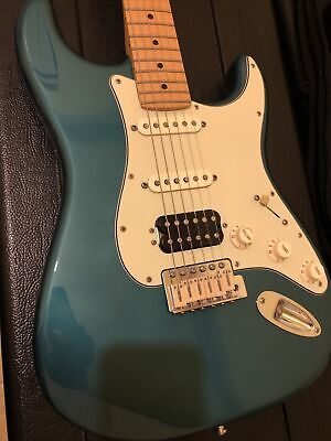 Fender Deluxe Lone Star Stratocaster Ocean Turquoise Hot Rod S1, Locking Tuners