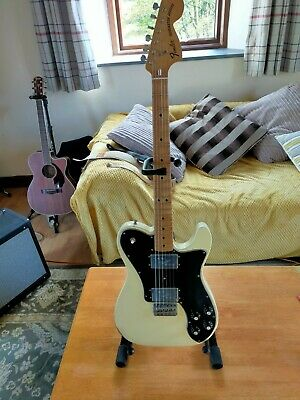 Fender Vintera 70s roadworn Telecaster D/luxe in Olympic White with Hiscox case