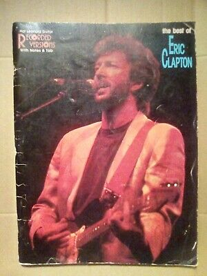 the best of Eric Clapton Hal Leonard Guitar RECORDED VERSIONS With Notes & Tab