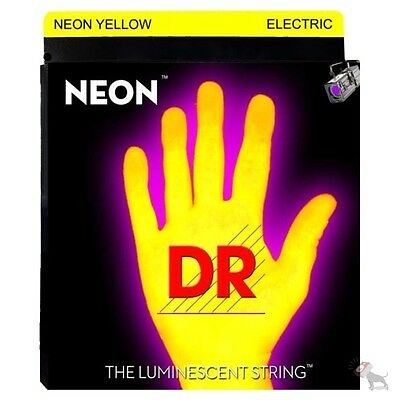 DR Strings NYB-45 K3 Neon Hi-Def Yellow Medium Strings for Electric Bass 45-105