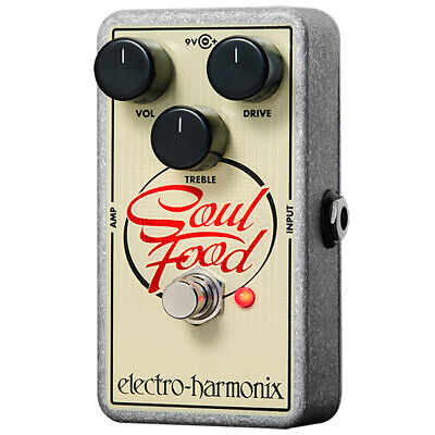Electro Harmonix Soul Food Distortion Fuzz Overdrive Guitar Effects Pedal • 66.57£