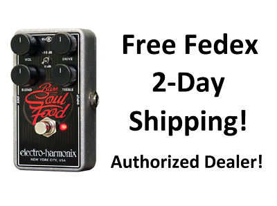 New Electro-Harmonix EHX Bass Soul Food Distortion Fuzz Overdrive Effects Pedal • 69.88£