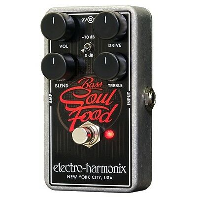 Electro-Harmonix Bass Soul Food Distortion Fuzz Overdrive Guitar Effects Pedal • 75.22£