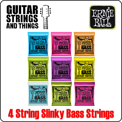 Ernie Ball Slinky Bass Strings Extra Super Regular Hybrid Power Beefy 4 String • 23.49£