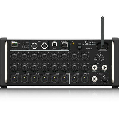 Behringer X Air XR18 18-Input Digital Mixer For IPad/Android Tablets WiFi USB • 483.88£