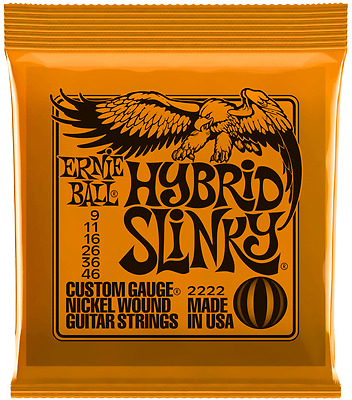 Ernie Ball Hybrid Slinky 09-46 Electric Guitar Strings Sets 2222  • 7.50£