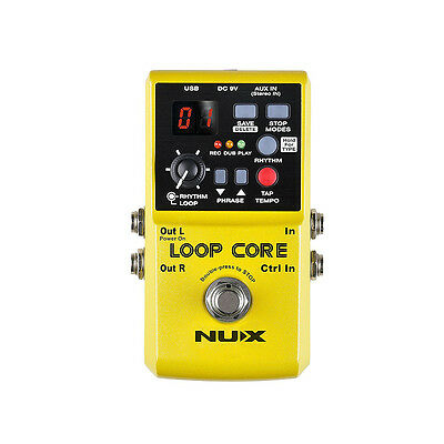 Nux Loop Core Looper Recording Overdub Guitar Effects Pedal W/ Tap Tempo • 71.64£