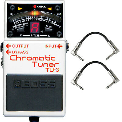 Boss TU-3 Chromatic Tuner Pedal Guitar Effects Stompbox Footswitch + Cables • 73.14£