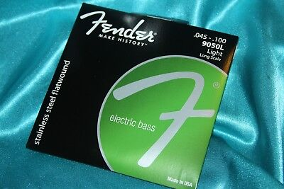 Fender 9050L Stainless Steel Flatwound Bass Strings, MPN 073-9050-403 • 20.30£