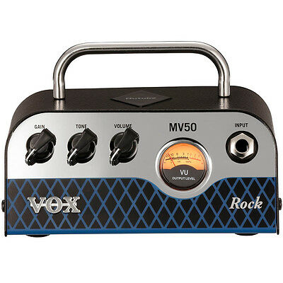 Vox MV50 Rock 50-Watt 1-Ch Mini Solid State Tube Electric Guitar Amplifier Head • 177.94£