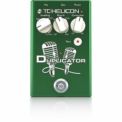 New TC-Helicon VoiceTone Duplicator Doubling/Reverb/Pitch Correction Vocal Pedal • 80.76£