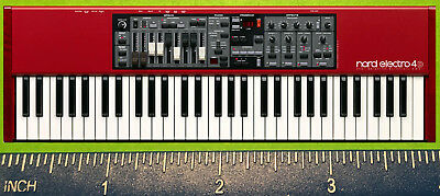 Clavia Nord Electro 2 3 4 5 6 HP D SW 61 73 76 SYNTH PIANO C2d ORGAN MAGNET • 5.71£