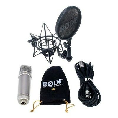 RODE NT1-A THE COMPLETE VOCAL RECORDING SOLUTION Microfono Filtro Antipop NUOVO • 142.02£