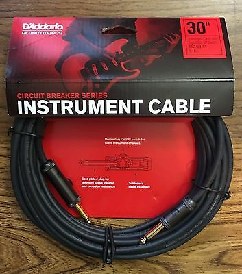 Planet Waves Daddario PW-AG-30 Circuit Breaker Cables 30 Foot • 33.20£