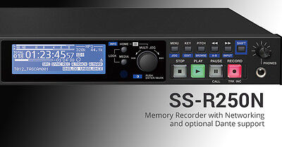 Tascam SS-R250N Rackmount Two-Channel Networking SD/USB/Media Digital Recorder • 700.90£