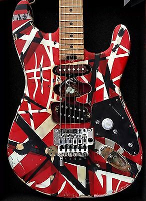 EVH Striped Series Red/white/black Modified Frankenstrat Type  By *Judah Guitars • 1,744.58£