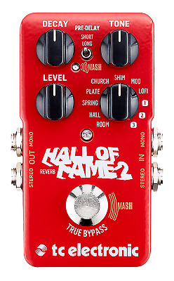 New TC Electronic Hall Of Fame 2 Reverb Guitar Effects Pedal HOF • 88.93£