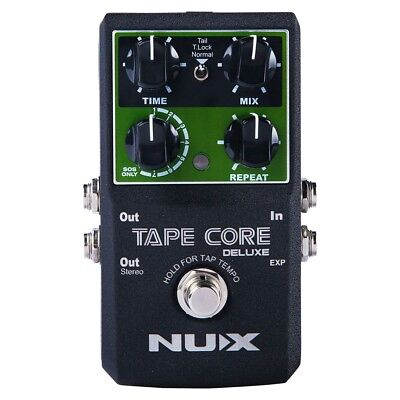 NuX Tape Core Deluxe Echo True Buffer Bypass Guitar Effects Pedal Stompbox • 71.89£