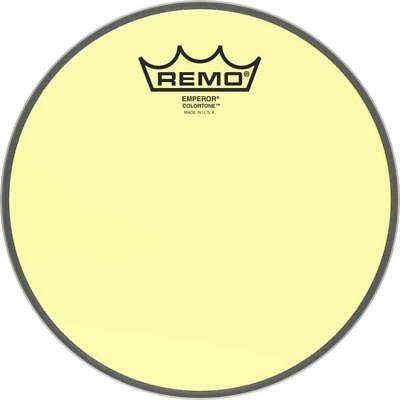 Remo Emperor Colortone Yellow Drum Heads • 19.76£