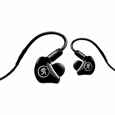Mackie MP-240 Hybrid Dual Dynamic Driver In-Ear Headphones Monitors W/Carry Case • 141.51£