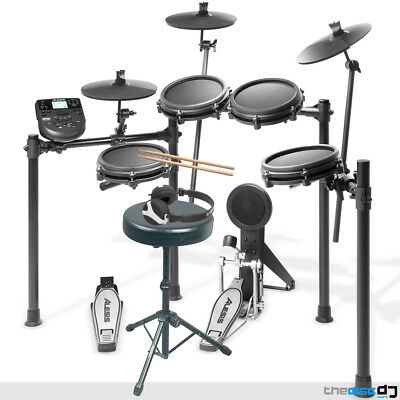 Alesis Nitro-MESH Electronic Drum Kit, Stool, Sticks, Pedals And Headphones Deal • 359£