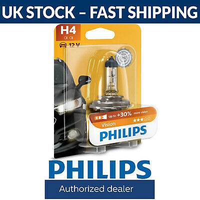 Philips Vision H4 30% More Light Headlight Bulb (Single) • 6.97£