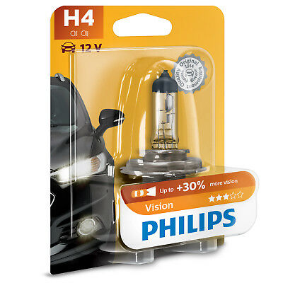 Philips Vision H4 Car Headlight Bulb (Single) • 10.99£