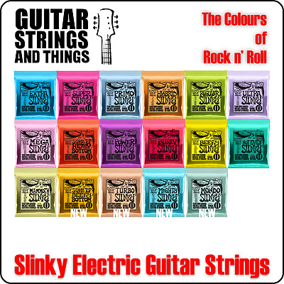 Ernie Ball Slinky Nickel Wound Electric Guitar Strings - ALL SLINKYS • 7.50£