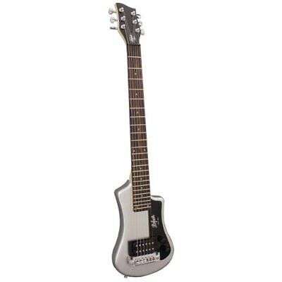 Hofner HCT Shorty Travel Electric Guitar - Silver