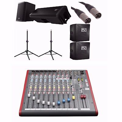 "EV ZLX15P 15"" Active Speakers + Allen & Heath ZED-12FX + Ultimate TS-90B,BUNDLE • 1,048.33£"