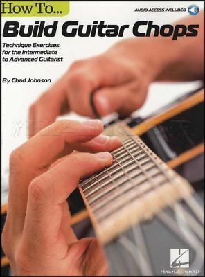 How To Build Guitar Chops TAB Music Book with Audio Technique Exercises Advanced