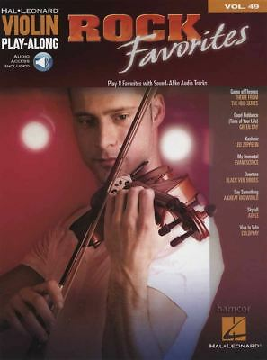 Rock Favorites Violin Play-Along Vol 49 Music Book/Audio Game of Thrones Theme