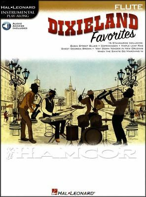 Dixieland Favorites Jazz Instrumental Play-Along For Flute Music Book & Audio • 8.34£