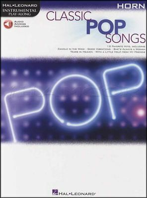 Classic Pop Songs Instrumental Play-Along French Horn Sheet Music Book/Audio