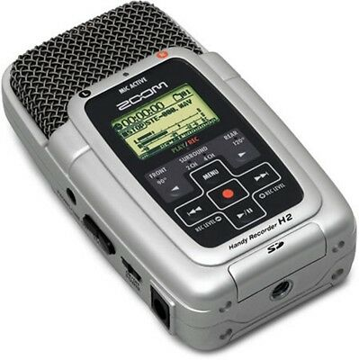 Zoom H2 Handy Multi Track Recorder Stereo Microphone 1gb Power Supply H1 H1n H2n • 84.95£